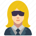 avatar, bouncer, female, people, professional, professions, security icon