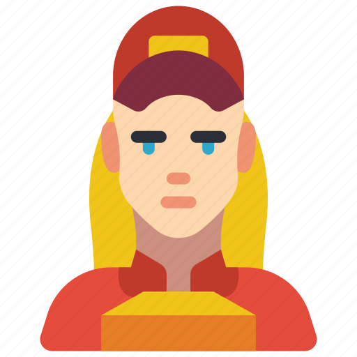 avatar, courier, delivery, people, professional, professions, woman icon