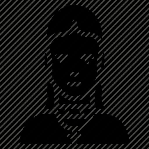 avatar, female, people, preist, professional, professions, user icon
