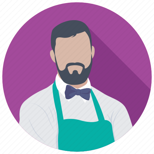 butler, food server, male waiter, waiter, waiting staff icon