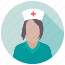 hospital staff, lady doctor, medical personnel, physician, surgeon icon
