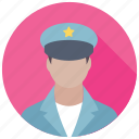 army captain, army major, captain, pilot, police officer icon