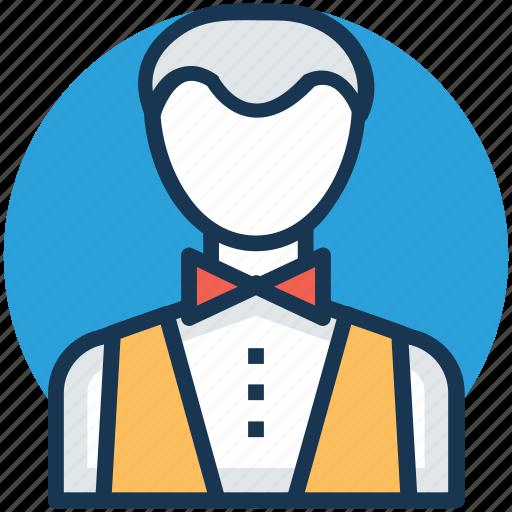 bartender, butler, hotel attendant, waiter, waitperson icon