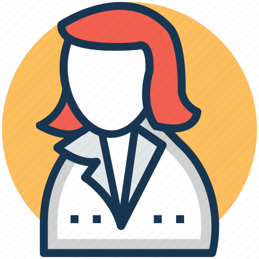 accountant, administrator, businesswoman, clerk, manager icon