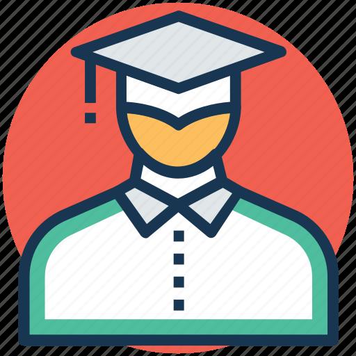 degree holder, graduate, postgraduate, scholar, student icon