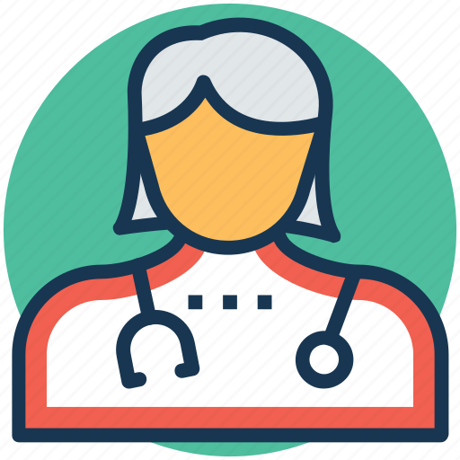 gynecologist, lady doctor, medical practitioner, physician, woman's doctor icon
