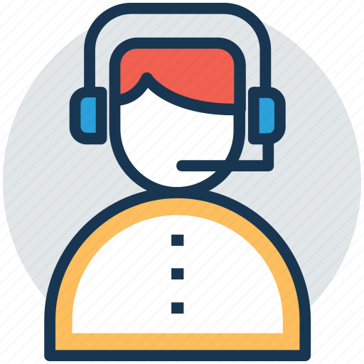 call center, call operator, customer representative, customer support, telemarketer icon