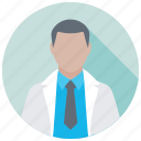 doctor, hospital staff, medical assistant, medical practitioner, physician icon