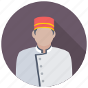 bellboy, bellhop, bellman, gatekeeper, hotel staff icon