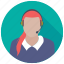 call center, customer service operator, customer service worker, customer support operator, operator, service operator icon