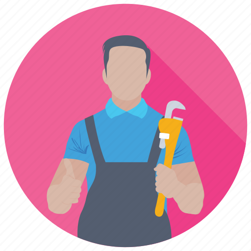 handyman, pipe fitter, plumber, professional, worker icon