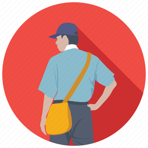 courier service, delivery man, mailman, mailperson, postman icon