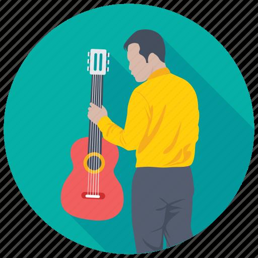 artist, guitarist, musician, songster, vocalist icon
