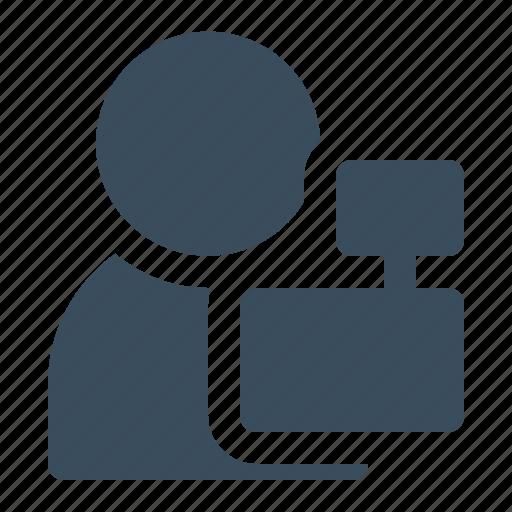avatar, cashier, man, shop, store icon