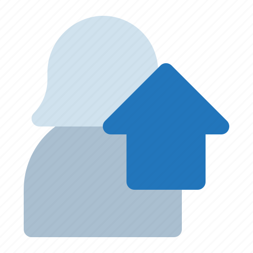 agent, avatar, home, house, woman icon