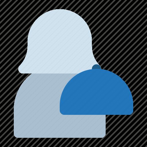 avatar, restaurant, waiter, woman icon
