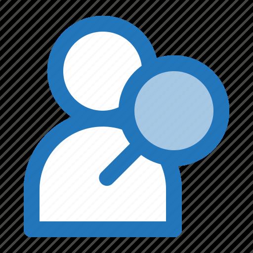 avatar, detective, man, search icon