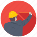 carpenter, construction worker, craftsman, handyman, worker icon