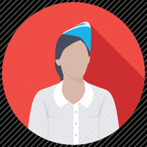 air hostess, air stewardess, flight attendant, hostess, steward icon