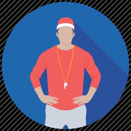 coach, instructor, match referee, sports coach, umpire icon