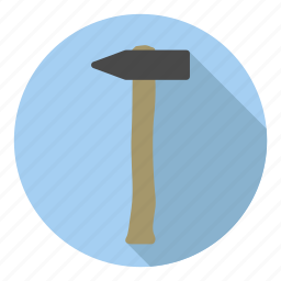 construct, hammer, hit, nail, profession icon