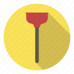 plumber, plunger, profession, repair, stuck, toilet icon