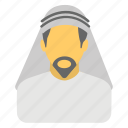 arab sheikh, arabian man, avatar, muslim, saudi arabia icon