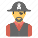 bandit, buccaneer, caribbean, criminal, pirate icon