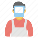 construction worker, factory worker, industrial worker, mechanic, welder icon
