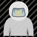 astronaut, cosmonaut, space pilot, space traveller, spaceman