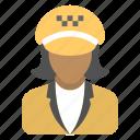 cabbie, chauffeur, driver, motorist, taxi driver icon