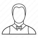 line, man, outline, restaurant, service, staff, waiter