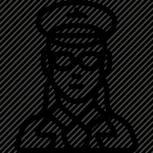 avatar, female, people, pilot, professional, professions icon