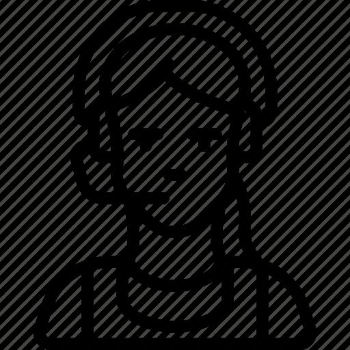 agent, avatar, female, professional, professions, sales, user icon