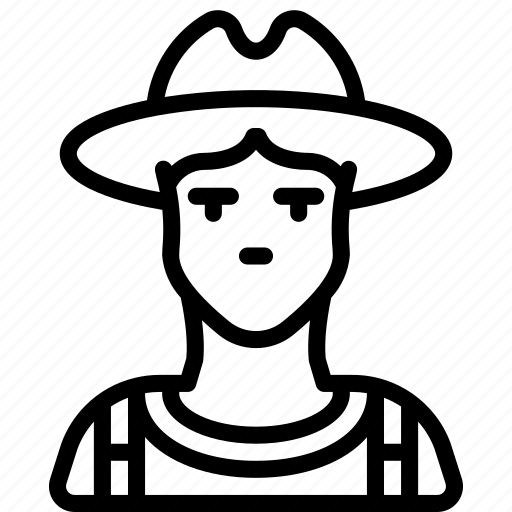 avatar, farmer, male, people, professional, professions, user icon