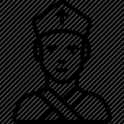archbishop, avatar, people, professional, professions, user icon