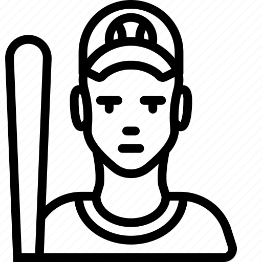 avatar, baseball, people, player, professional, professions, sports icon