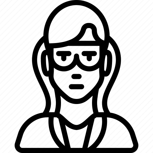 avatar, female, professional, professions, professor, scientist, user icon