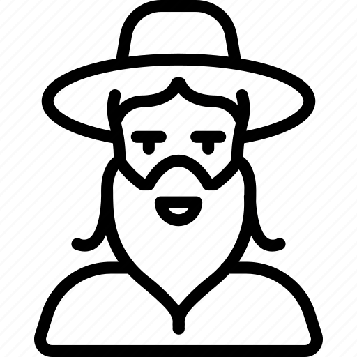 avatar, people, preist, professional, professions, rabi, user icon