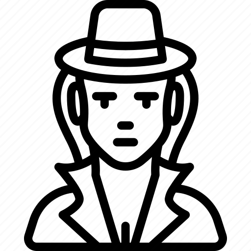avatar, detective, people, professional, professions, user icon