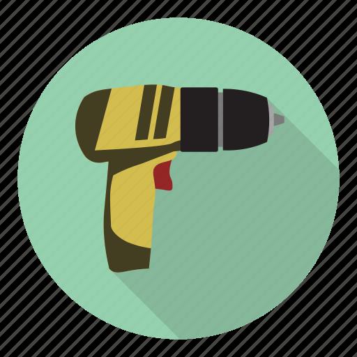drill, electric, heavy, profession icon
