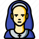 avatar, nun, people, professional, professions, user icon