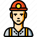 avatar, miner, people, professional, professions, user icon