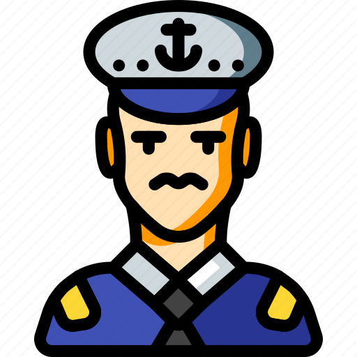 avatar, captain, people, professional, professions, ship, user icon