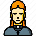 avatar, female, people, preist, professional, professions, vicar icon