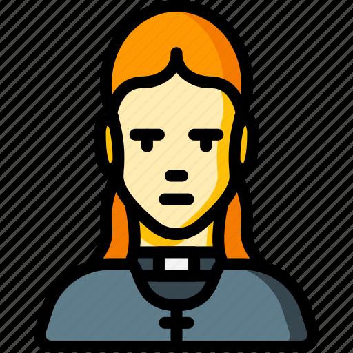 avatar, female, people, preist, professional, professions, vicar icon