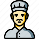 avatar, chef, male, people, professional, professions, user icon