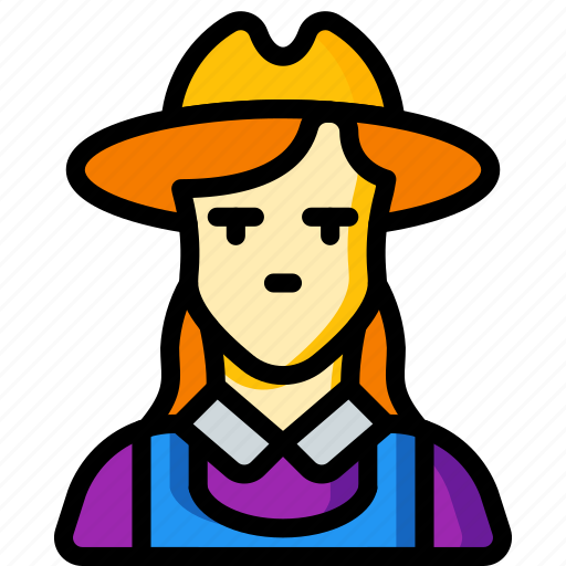 avatar, farmer, female, people, professional, professions, user icon