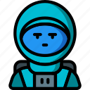 astronaut, avatar, people, professional, professions, space, user