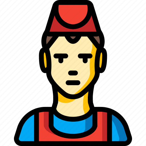 avatar, chef, fast, food, male, people, professions icon